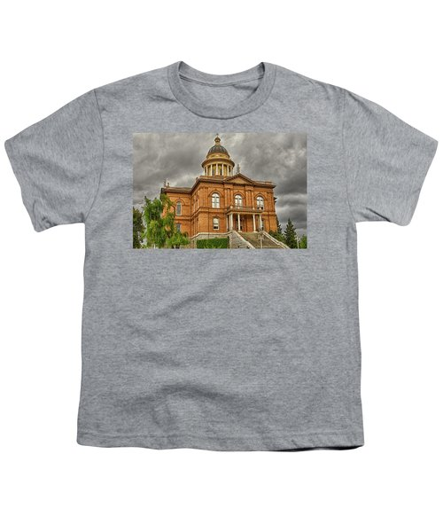 Youth T-Shirt featuring the photograph Historic Placer County Courthouse by Jim Thompson
