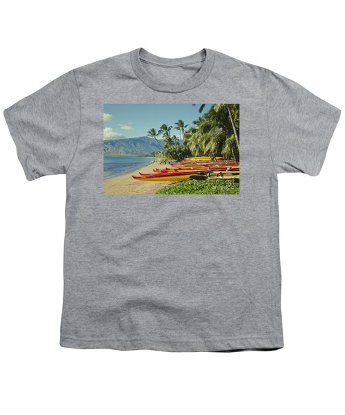 Kenolio Beach Sugar Beach Kihei Maui Hawaii  Youth T-Shirt