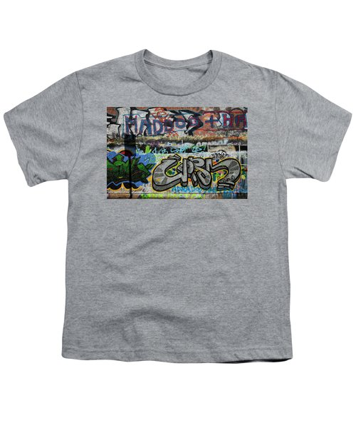 Artistic Graffiti On The U2 Wall Youth T-Shirt by Panoramic Images
