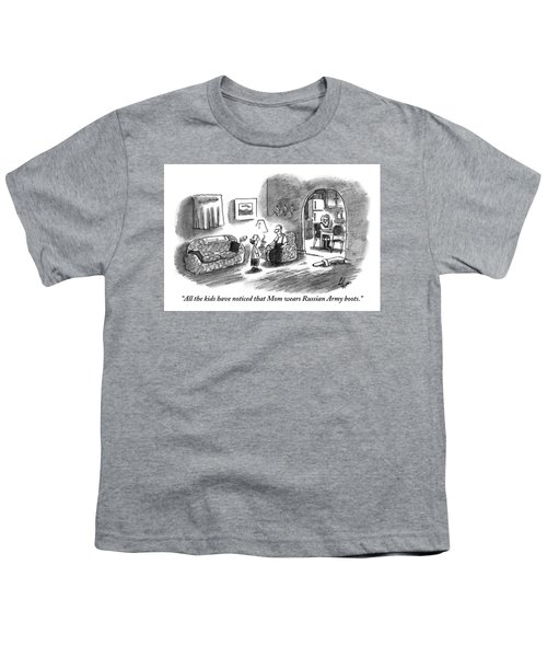 A Boy Talks To His Father In The Living Room Youth T-Shirt