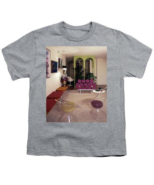 A Retro Living Room Youth T-Shirt