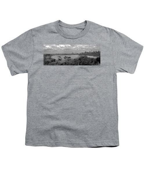 Youth T-Shirt featuring the photograph Black And White Sydney by Miroslava Jurcik