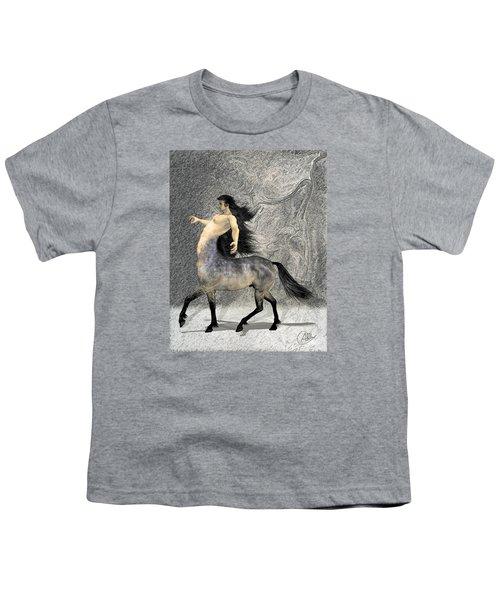 Centaur Youth T-Shirt by Quim Abella