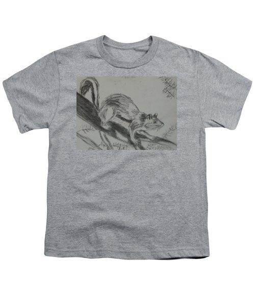 Chipmunk On The Prowl Youth T-Shirt