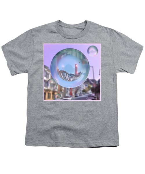 Coit Tower In A Bubble And Purple Sky Youth T-Shirt by Anna Porter
