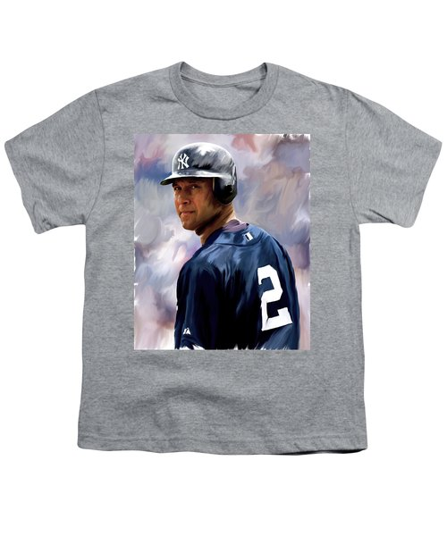Derek Jeter  Youth T-Shirt by Iconic Images Art Gallery David Pucciarelli