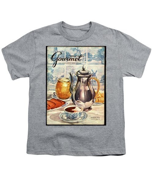 Gourmet Cover Featuring An Illustration Youth T-Shirt