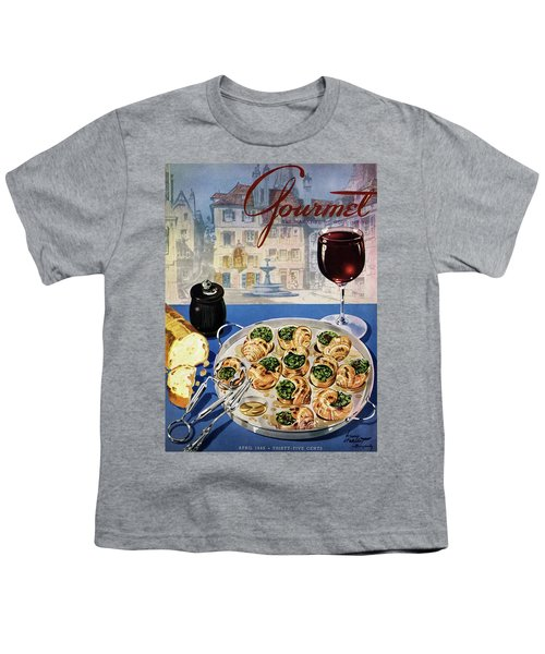 Gourmet Cover Illustration Of A Platter Youth T-Shirt
