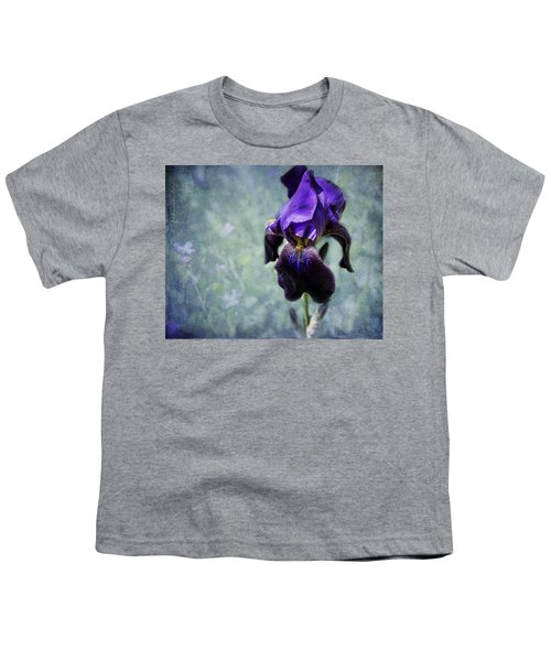 Iris - Purple And Blue - Flowers Youth T-Shirt
