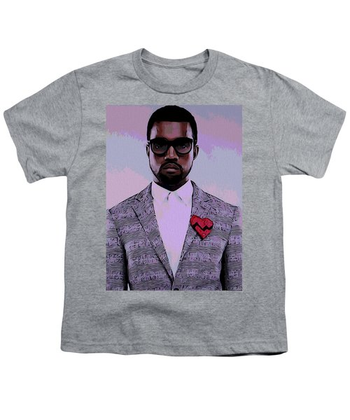 Kanye West Poster Youth T-Shirt by Dan Sproul