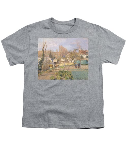 Kitchen Garden At The The Lhermitage, Pontoise, 1874 Oil On Canvas Youth T-Shirt