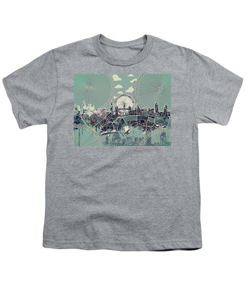 London Skyline Vintage Youth T-Shirt