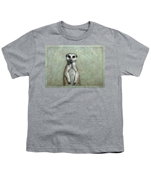Meerkat Youth T-Shirt by James W Johnson