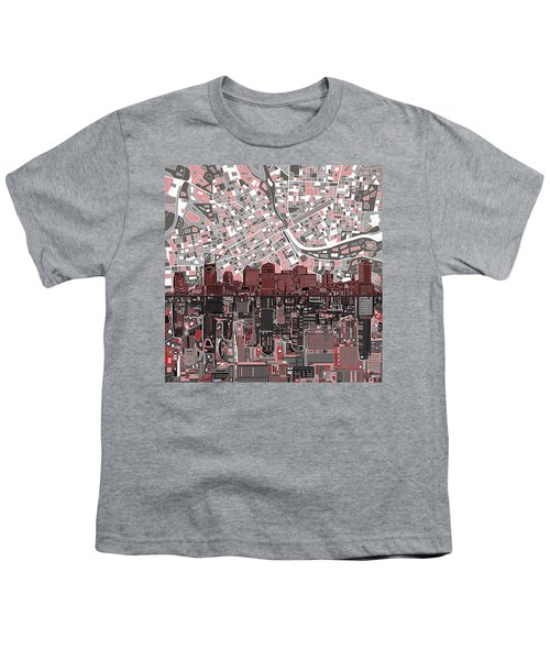 Nashville Skyline Abstract 3 Youth T-Shirt