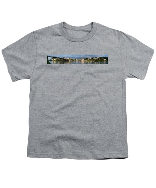Old Bridge Over The Sea, Le Bono, Gulf Youth T-Shirt by Panoramic Images