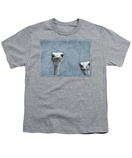 Ostriches Youth T-Shirt by James W Johnson