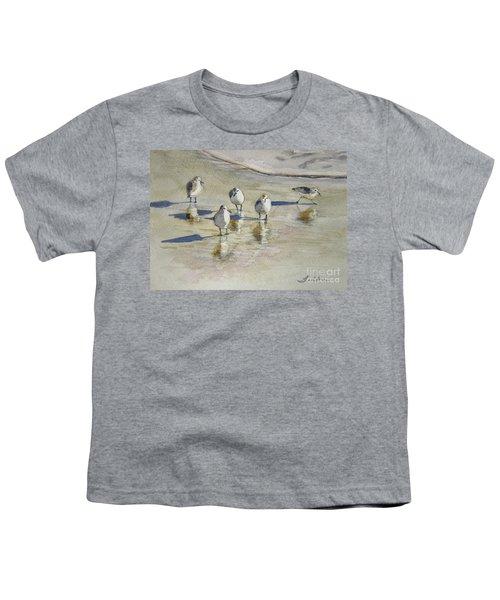 Sandpipers 2 Watercolor 5-13-12 Julianne Felton Youth T-Shirt