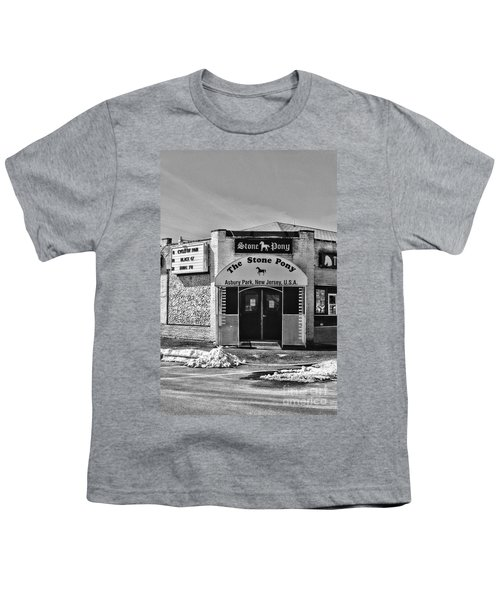 Stone Pony In Black And White Youth T-Shirt by Paul Ward