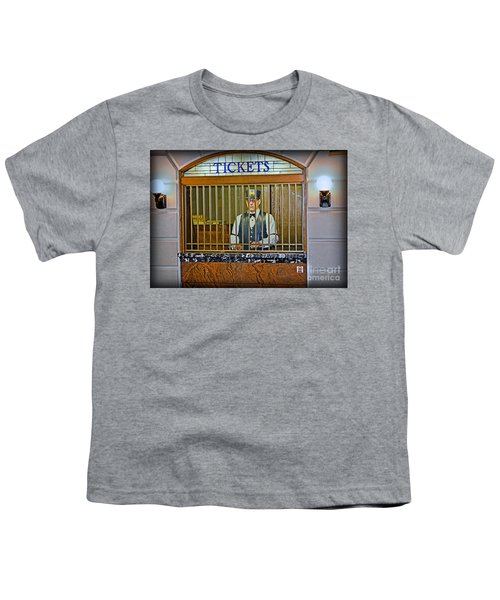 Youth T-Shirt featuring the photograph Vintage Train Ticket Booth by Gary Keesler