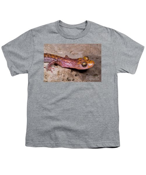 Cave Salamander Youth T-Shirt by Dante Fenolio