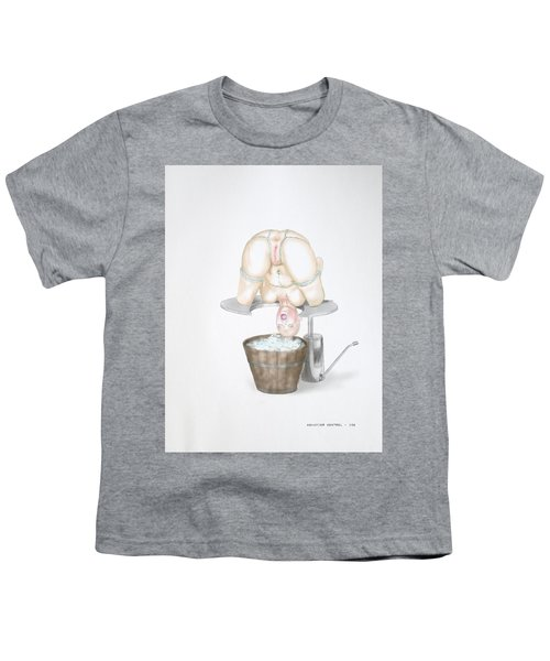 Youth T-Shirt featuring the mixed media  Behavior Control by TortureLord Art