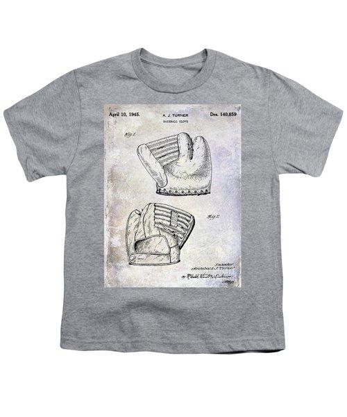 1945 Baseball Glove Patent Youth T-Shirt