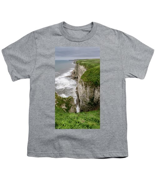 Bempton Cliffs Youth T-Shirt by Nigel Wooding