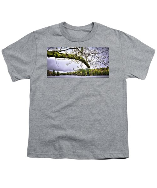 The Pond In Old Forge Youth T-Shirt by David Patterson
