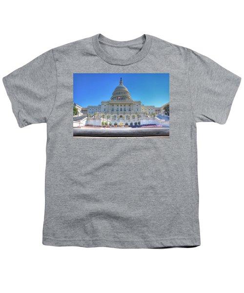 The Us Capitol Building - Washington D.c. Youth T-Shirt