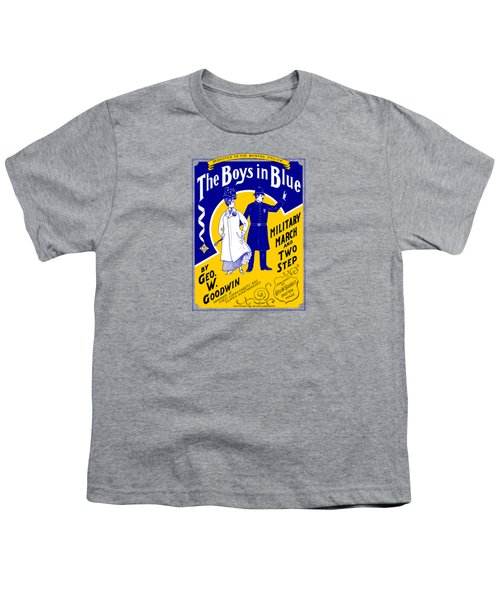 1901 The Boys In Blue, The Boston Police Youth T-Shirt by Historic Image