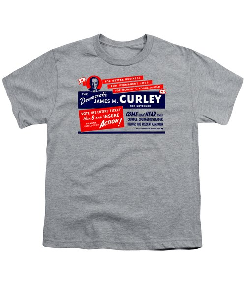 1934 James Michael Curley Youth T-Shirt by Historic Image
