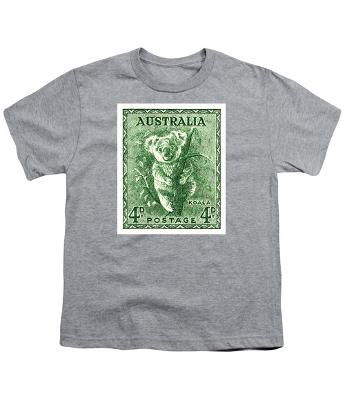 1940 Australia Koala Postage Stamp Youth T-Shirt