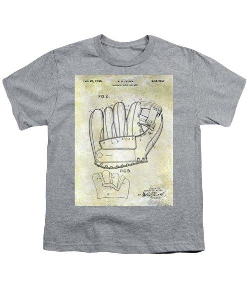 1943 Baseball Glove Patent Youth T-Shirt