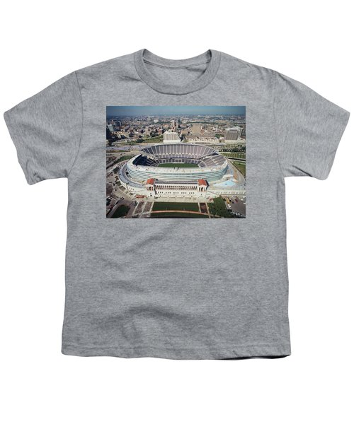 Aerial View Of A Stadium, Soldier Youth T-Shirt by Panoramic Images