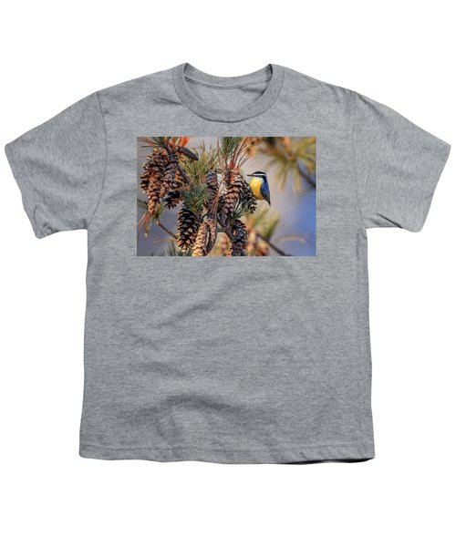 Black-capped Chickadee Youth T-Shirt
