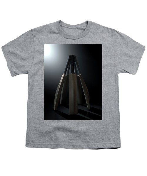Cricket Back Circle Dramatic Youth T-Shirt by Allan Swart