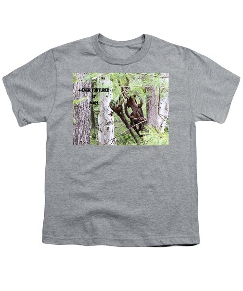 4-ever Tortured By Man Youth T-Shirt