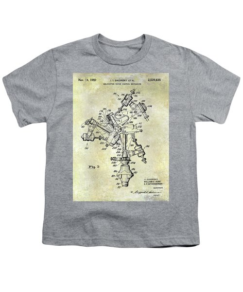 1950 Helicopter Patent Youth T-Shirt