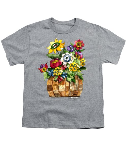 A Lovely Basket Of Flowers Youth T-Shirt
