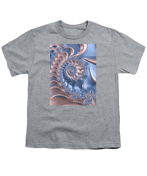Abstract Fractal Art Rose Quartz And Serenity  Youth T-Shirt