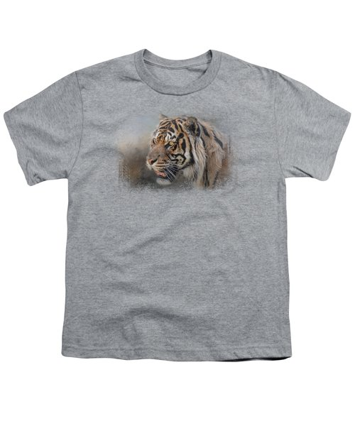 Alert Bengal Youth T-Shirt by Jai Johnson