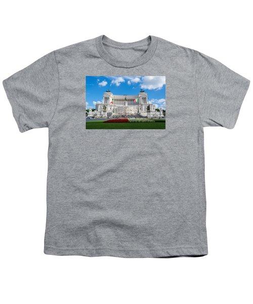 Altare Della Patria-3344 Youth T-Shirt by Alex Ursache