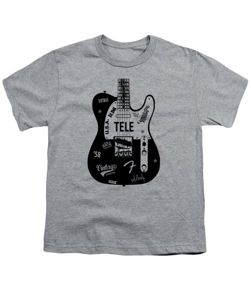 Fender Telecaster 58 Youth T-Shirt by Mark Rogan