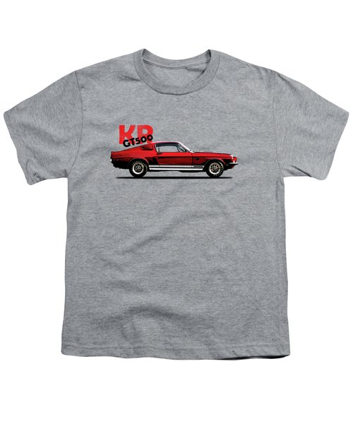 Shelby Mustang Gt500 Kr 1968 Youth T-Shirt by Mark Rogan