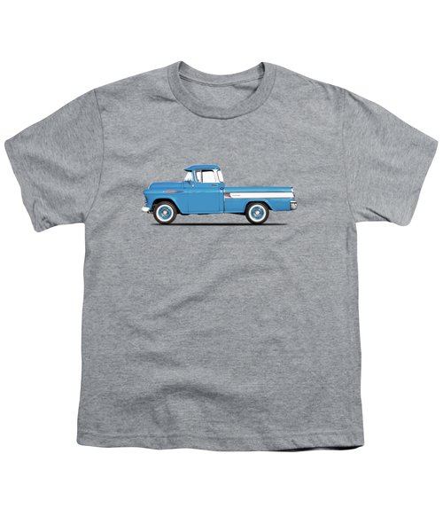 Cameo Pickup 1957 Youth T-Shirt by Mark Rogan
