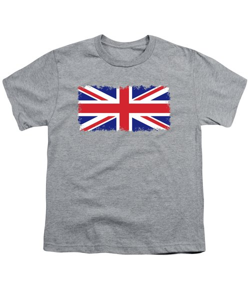 Union Jack Ensign Flag 1x2 Scale Youth T-Shirt by Bruce Stanfield