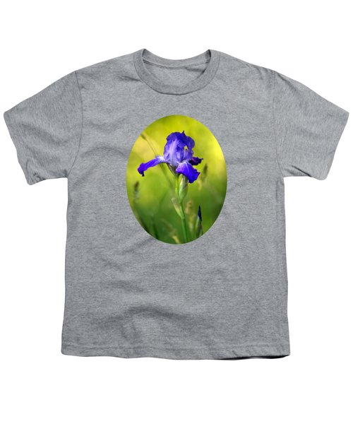 Violet Iris Youth T-Shirt by Christina Rollo