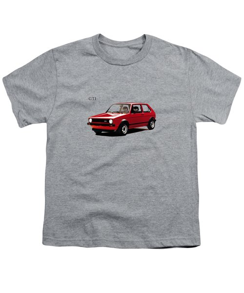 Vw Golf Gti 1976 Youth T-Shirt by Mark Rogan