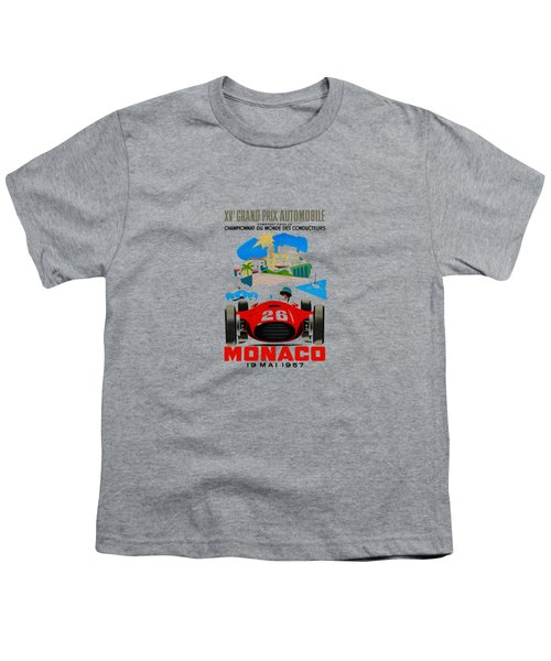 Monaco 1957 Youth T-Shirt by Mark Rogan