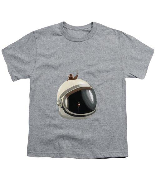 Astronaut's Helmet Youth T-Shirt by Keshava Shukla